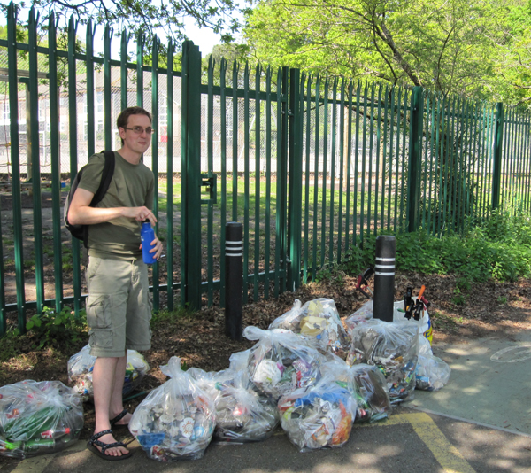 Jamie and collected litter