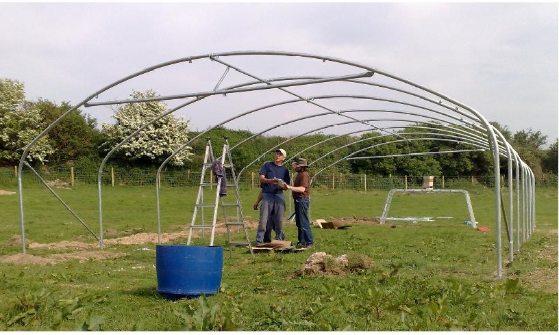 Dorchester Polytunnel Raising